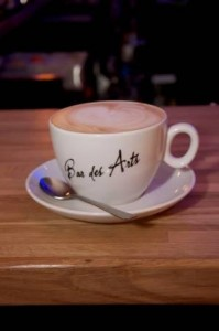 coffee mug at Bar des Arts Guildford
