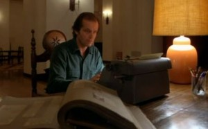'Now, what was I typing?' Jack Torrance from 'The Shining'