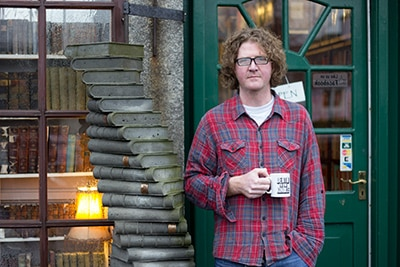 Shaun Bythell outside The Bookshop.