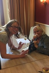Giggling with Martina Cole.